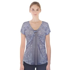 Watts Chapel Short Sleeve Front Detail Top