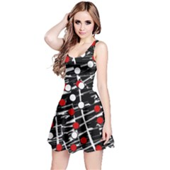 Red and white dots Reversible Sleeveless Dress