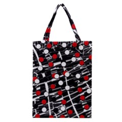 Red and white dots Classic Tote Bag