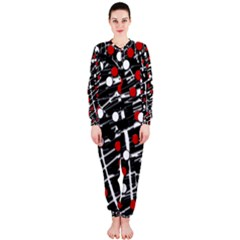 Red and white dots OnePiece Jumpsuit (Ladies)