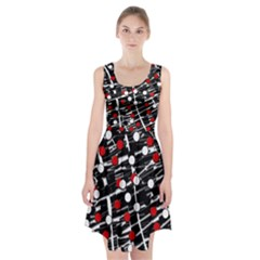 Red And White Dots Racerback Midi Dress