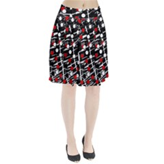 Red and white dots Pleated Skirt