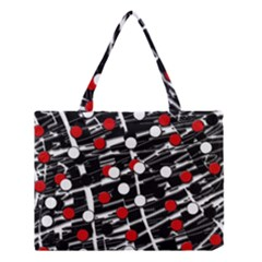 Red And White Dots Medium Tote Bag