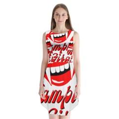Vampire Girl Sleeveless Chiffon Dress
