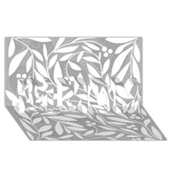 Gray and white floral pattern #1 MOM 3D Greeting Cards (8x4)