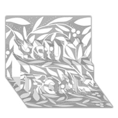Gray and white floral pattern You Rock 3D Greeting Card (7x5)