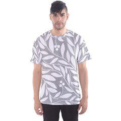Gray and white floral pattern Men s Sport Mesh Tee