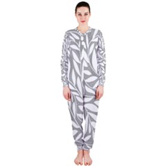 Gray and white floral pattern OnePiece Jumpsuit (Ladies)