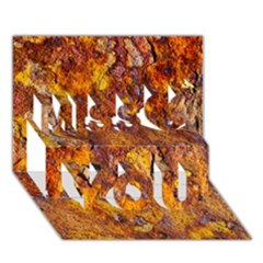 Rusted metal surface Miss You 3D Greeting Card (7x5)