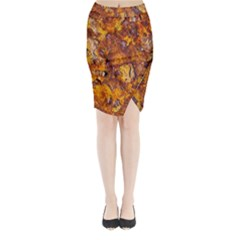 Rusted Metal Surface Midi Wrap Pencil Skirt