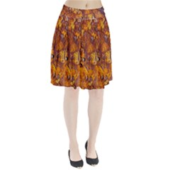 Rusted metal surface Pleated Skirt