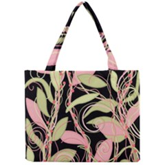 Pink and ocher ivy Mini Tote Bag