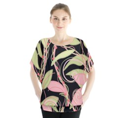 Pink And Ocher Ivy Blouse