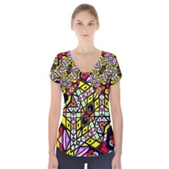 Onest Short Sleeve Front Detail Top