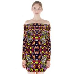 ANCIENT SPIRIT Long Sleeve Off Shoulder Dress