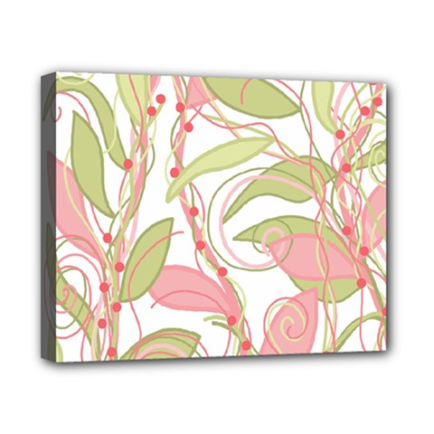 Pink and ocher ivy 2 Canvas 10  x 8