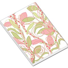 Pink and ocher ivy 2 Large Memo Pads