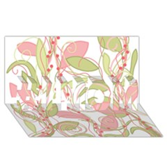 Pink And Ocher Ivy 2 #1 Mom 3d Greeting Cards (8x4)