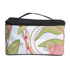 Pink and ocher ivy 2 Cosmetic Storage Case
