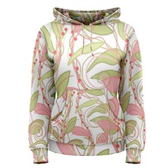 Pink and ocher ivy 2 Women s Pullover Hoodie