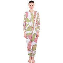 Pink and ocher ivy 2 OnePiece Jumpsuit (Ladies)