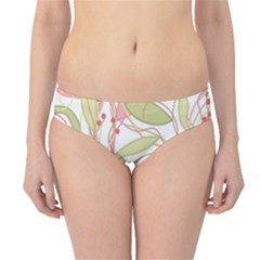 Pink and ocher ivy 2 Hipster Bikini Bottoms