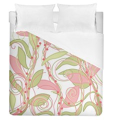 Pink And Ocher Ivy 2 Duvet Cover Single Side (queen Size)