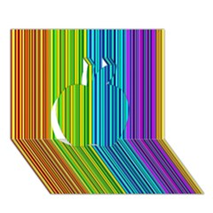 Colorful lines Apple 3D Greeting Card (7x5)
