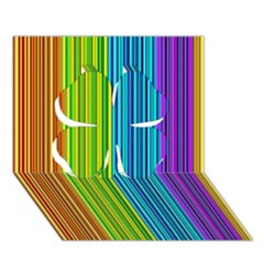 Colorful lines Clover 3D Greeting Card (7x5)
