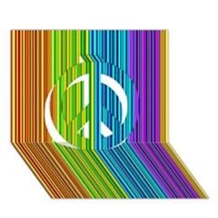 Colorful lines Peace Sign 3D Greeting Card (7x5)