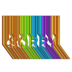 Colorful lines SORRY 3D Greeting Card (8x4)