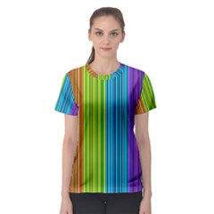 Colorful lines Women s Sport Mesh Tee