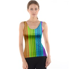 Colorful lines Tank Top