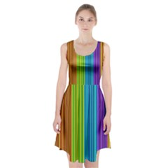 Colorful lines Racerback Midi Dress