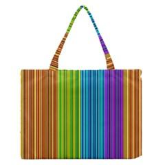 Colorful lines Medium Zipper Tote Bag