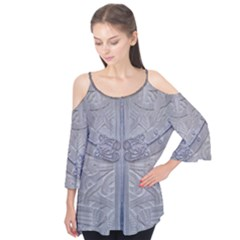 Watts Chapel (double Alt) Flutter Sleeve Tee