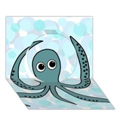 Octopus Circle 3D Greeting Card (7x5)