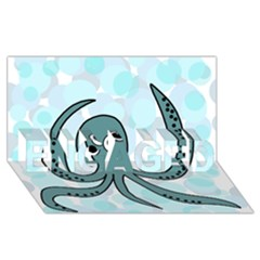 Octopus ENGAGED 3D Greeting Card (8x4)