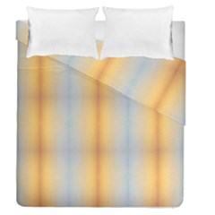 Blue Yellow Summer Pattern Duvet Cover Double Side (queen Size)