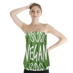 Vegan Label3 Scuro Strapless Top
