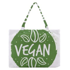 Vegan Label3 Scuro Medium Zipper Tote Bag