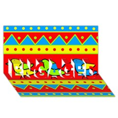 Birds pattern ENGAGED 3D Greeting Card (8x4)