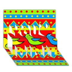 Birds pattern You Did It 3D Greeting Card (7x5)