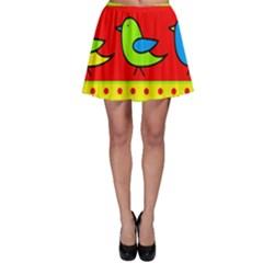 Birds pattern Skater Skirt