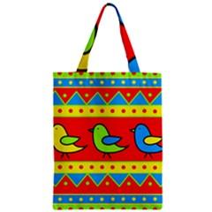 Birds pattern Zipper Classic Tote Bag