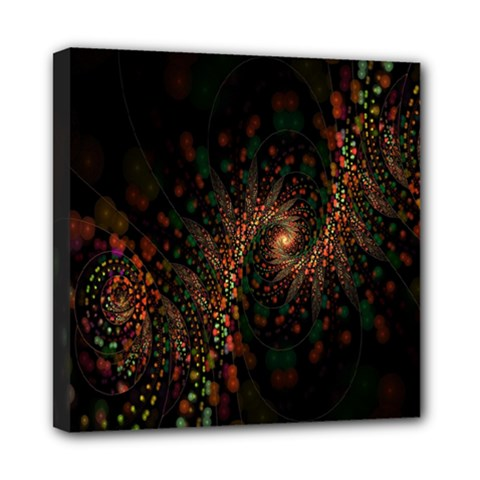Multicolor Fractals Digital Art Design Mini Canvas 8  x 8
