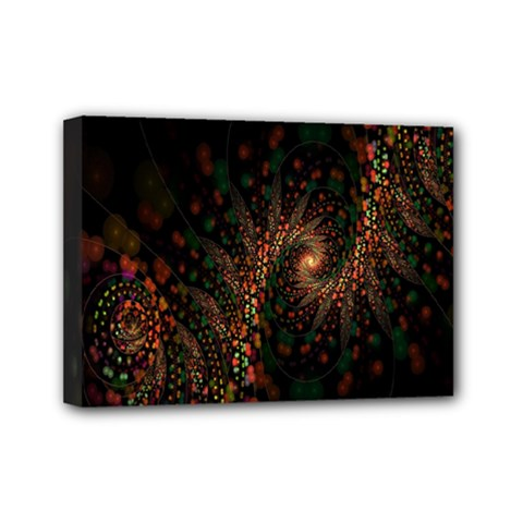 Multicolor Fractals Digital Art Design Mini Canvas 7  x 5