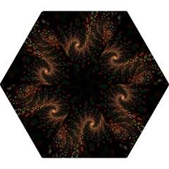 Multicolor Fractals Digital Art Design Mini Folding Umbrellas