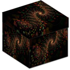 Multicolor Fractals Digital Art Design Storage Stool 12