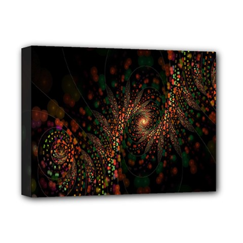 Multicolor Fractals Digital Art Design Deluxe Canvas 16  x 12